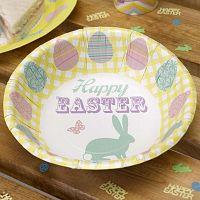 Happy Easter 8 darab papír mélytányér - Neviti