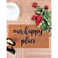 Happy Place kókuszrost lábtörlő, 70 x 40 cm