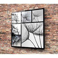 Harmo fekete-fehér üvegezett kép, 30x30cm - Insigne