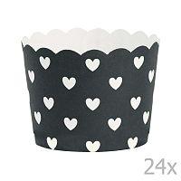 Hearts papír sütőforma, 24 db - Miss Étoile