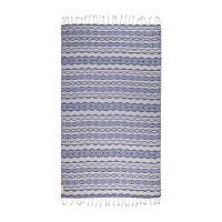 Heritage kék hammam fürdőlepedő pamutból és bambuszrostból, 180 x 95 cm - Begonville