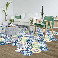 Hexagons Bella 10 db-os matrica szett padlóra, 20 x 18 cm - Ambiance