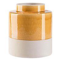 Hola krémszín-citromsárga váza, magassága 25,5 cm - Vox