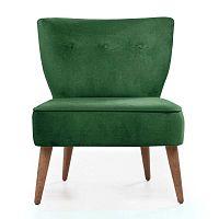 Home Molly zöld kárpitozott szék - Balcab