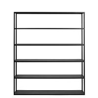 Hyller fekete könyvespolc, magassága 180 cm - Custom Form