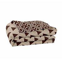 Hypnosis Triangles barna-bézs kétoldalas mikroszálas ágytakaró, 240 x 260 cm - DecoKing