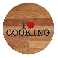 I Love Cooking bükkfa tálalódeszka/vágódeszka, ø 30cm - Bisetti