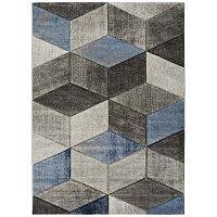 Indigo Azul Robo szürke-kék szőnyeg, 120x170cm - Universal
