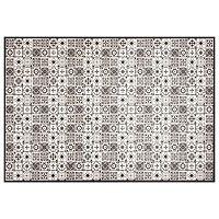 Kaja fekete-fehér vinil szőnyeg, 65 x 100 cm - Zala Living