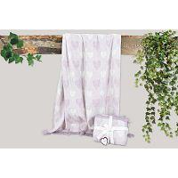 Kalp lila takaró pamut keverékből, 155 x 125 cm - Dolce Bonita