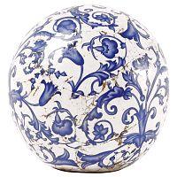 Kék-fehér kerámia dekoráció, ⌀ 12 cm - Ego Dekor