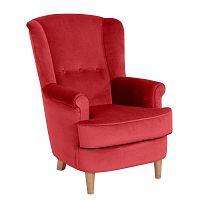 Kendra Velvet piros füles fotel - Max Winzer