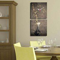 Kompozice s vázou dekoratív falióra, 60 x 28 cm