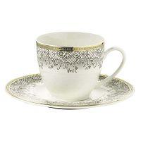 Kutahya Prosper porcelán eszpresszó csésze és csészealj, 6 darabos készlet, 50 ml