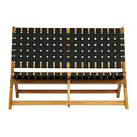 Lois barna-fekete kerti ülőpad, tömör eukaliptuszfából - WOOOD
