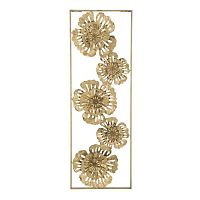 Luxy Nature aranyszínű fali dekoráció vasból - Mauro Ferretti