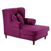 Mareille Velour Violet lila füles fotel - Max Winzer
