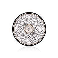 Maroc Safi fekete-fehér csontporcelán tányér, ⌀ 20 cm - The Mia