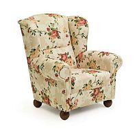 Monarch Chenille bézs, mintás füles fotel - Max Winzer