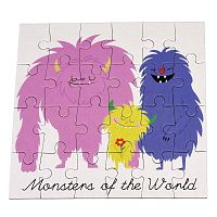 Monsters Of The World puzzle, 24 db - Rex London