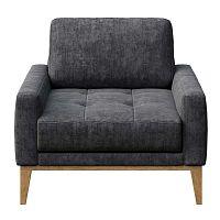 Musso Tufted sötétszürke fotel - MESONICA