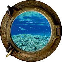 Oceán dekorációs falmatrica, 33 x 33 cm