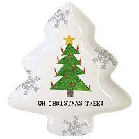 Oh Christmas Tree porcelán dekorációs tál karácsonyi motívummal, 19,5 x 23 cm - PPD