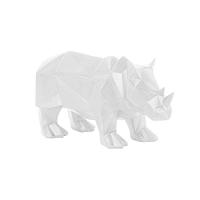 Origami Rhino matt fehér szobor - PT LIVING