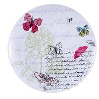 Pink Butterfly porcelán tányér, 27 cm - Bergner