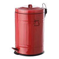 Piros pedálos fém hulladékgyűjtő, 20 l - Unimasa