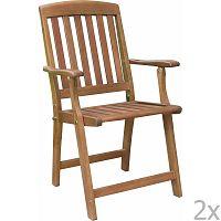 Portland kerti szék, eukaliptuszból, 2 darab - ADDU