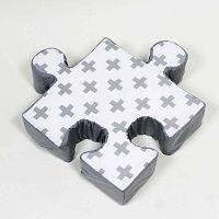 Puzzle Cross szürke kispárna - K-ID