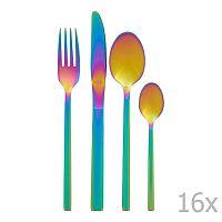 Rainbow szivárványos hatású evőeszköz készlet, 16 db - Premier Housewares