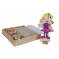 Ramona fából készült, mágneses öltöztetőbaba - Legler