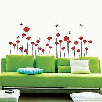 Red Poppy Flowers falmatrica készlet - Ambiance