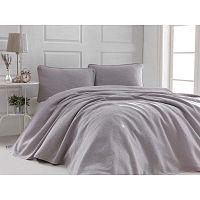 Sal szürkésrózsaszín kétszemélyes, pamut ágytakaró és 2 párnahuzat szett, 220 x 240 cm