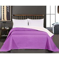 Salice Purple lila kétoldalas mikroszálas ágytakaró, 200 x 220 cm - DecoKing