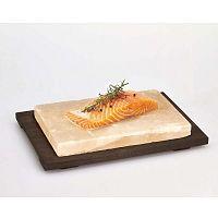Salt Plate tálaló kősó lappal, 20 x 30 cm - Bisetti