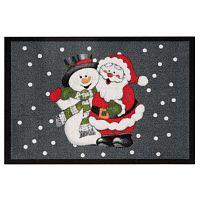 Santa and Snowman lábtörlő, 40 x 60 cm - Hanse Home