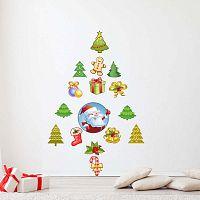 Santa Claus and his Christmas trees 15 részes karácsonyi matricaszett - Ambiance