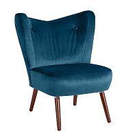 Sari Velvet petróleum kék fotel - Max Winzer