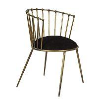 Savoy Antique aranyszínű fotel bársony üléssel - Miloo Home