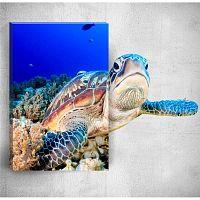 Sea Turtle 3D fali kép, 40 x 60 cm - Mosticx