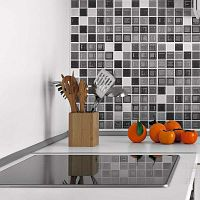 Shade of Grey dekoratív matrica szett, 9 darab, 20 x 20 cm - Ambiance