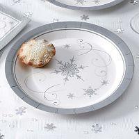 Shimmering Snowflake 8 db-os papírtányér szett - Neviti