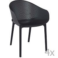 Sky fekete kerti fotel, 4 darab - Resol