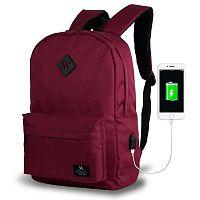 SPECTA Smart Bag borvörös hátizsák USB csatlakozóval - My Valice