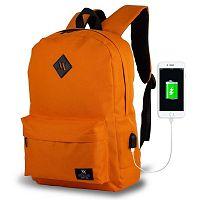 SPECTA Smart Bag narancssárga hátizsák USB csatlakozóval - My Valice