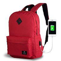 SPECTA Smart Bag piros hátizsák USB csatlakozóval - My Valice