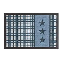 Star Plaid Printy Blue lábtörlő, 40 x 60 cm - Hanse Home